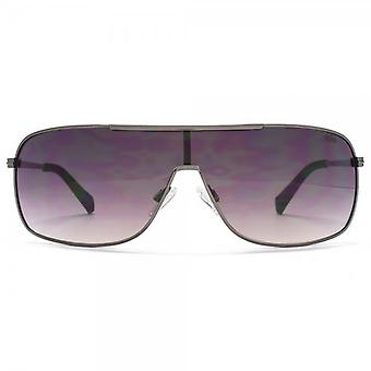 SUUNA Bronx Visor Sunglasses In Shiny Black