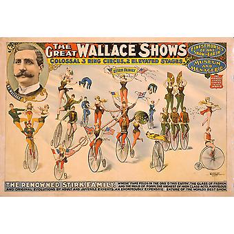 The Great Wallace Shows circus poster Poster Print Giclee