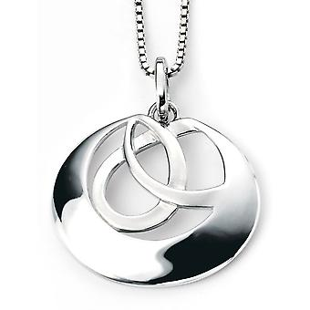 925 Silver Plated Rhodium Necklace