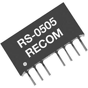 RECOM RS-4805S 2W DC/DC Converter, SIP4 RS-4805S 5 V 400 mA 2 W