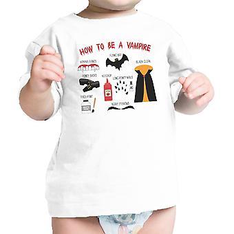Vampir Schritte weiße Grafik T-Shirt erste Halloween Baby Babygeschenke