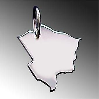 Trailer map BOTSWANA pendant in solid 925 Silver