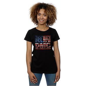 Køre DMC kvinders Flag amerikanske Logo T-Shirt