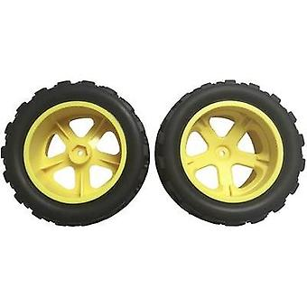 Spare part Reely 34815-yellow MT Supersonic BL wheels