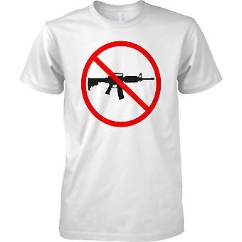 No Guns Warning Sign - Mens T Shirt