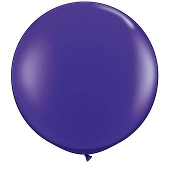 Qualatex 3 Ft Round Plain Latex Balloons (2 Pack)
