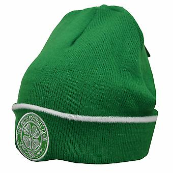 Celtic FC Official Crest Design Cuff Knitted Hat