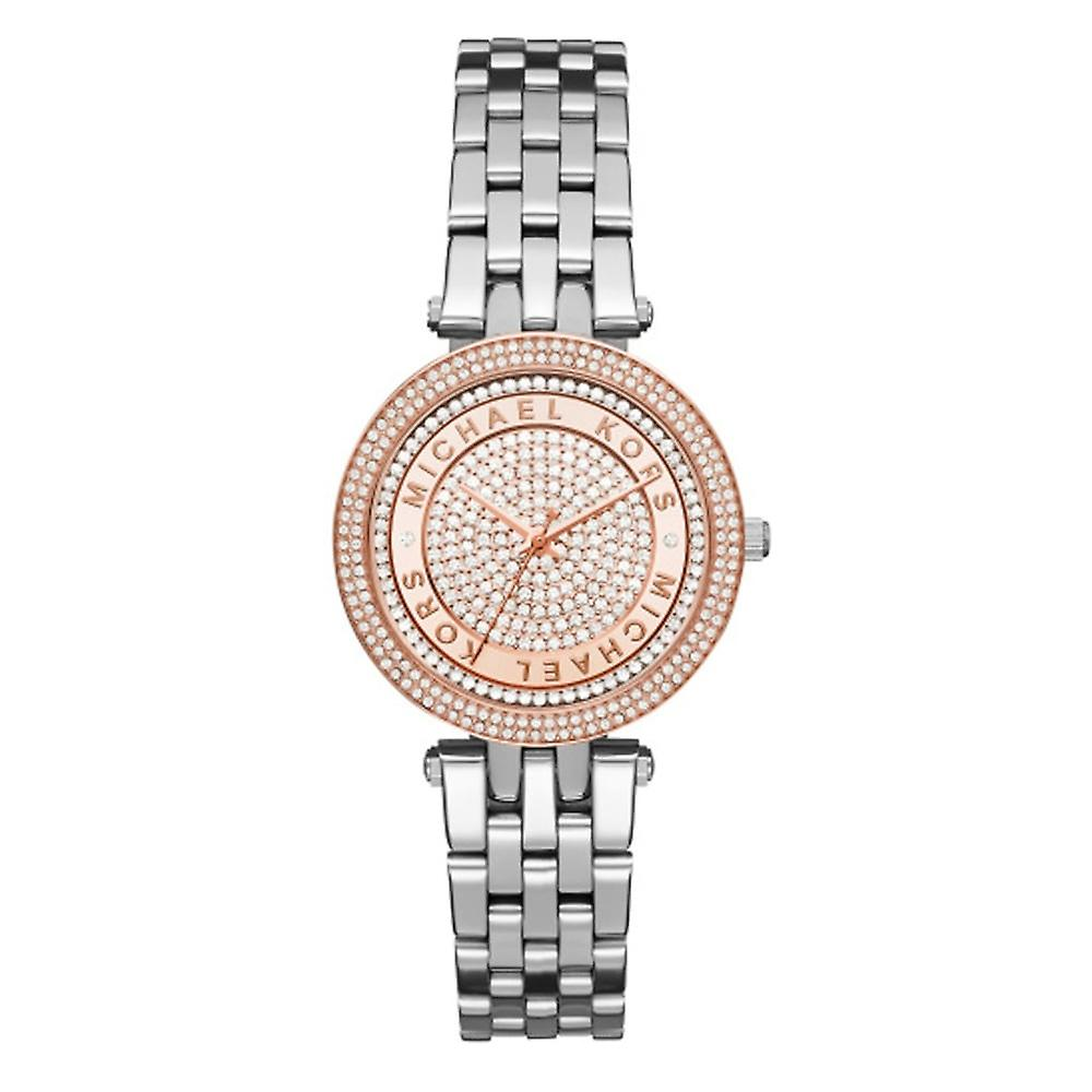 Michael Kors Watches Mk3446 Mini Darci Rose Gold & Silver Stainless Steel Ladies Watch