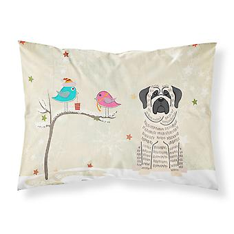 Christmas Presents between Friends Mastiff Brindle White Fabric Standard Pillowc