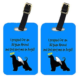 Carolines Treasures  AN1002BT Pair of 2 Afghan Hound Luggage Tags