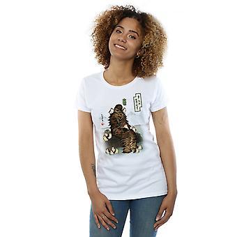 Star Wars-vrouwen de laatste Jedi Japanse Chewbacca Porgs T-Shirt