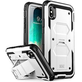 iPhone X fall, [Armorbox] i-Blason byggt i [Screen Protector] [hela kroppen] [Heavy Duty skydd] [cykelställ], Iphone X