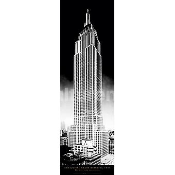 New York Empire State Building Poster Poster Print