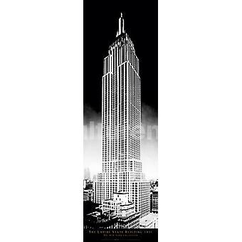 Nueva York Empire State Building cartel Poster Print