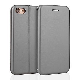 Yousave tilbehør Iphone 7 læder effekt stå tegnebog sag - grå