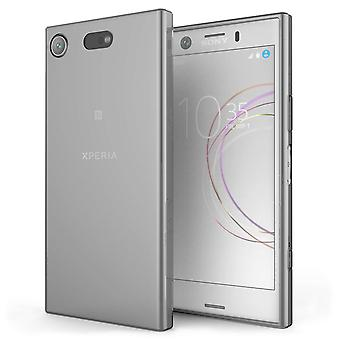 Sony Xperia XZ1 Compact Case,  Scratch Resistant - Ultra Slim and Lightweight - NO Bulkiness - TPU Gel Soft Thin Silicone Back Cover - Smoke Black