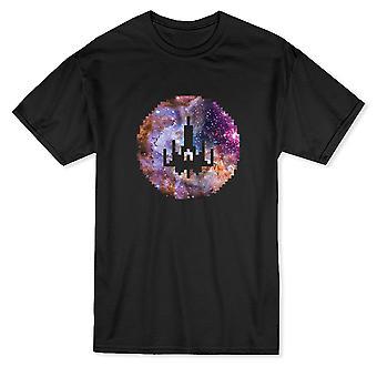 Spaceship Galaxy Pixel Art Men's T-shirt