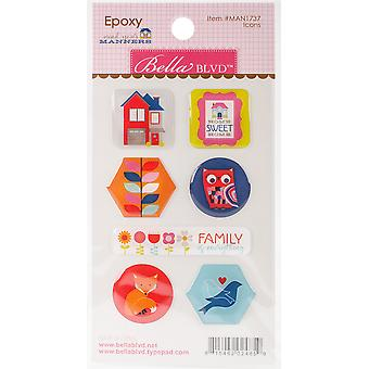 Mind Your Manners Epoxy Stickers-Icons MAN1737