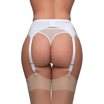 Reggicalze in cinghia pizzo bianco tinta unita in nylon sogni NDL8 femminile giarrettiera cintura 6