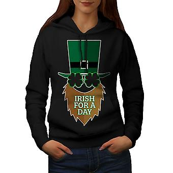 Irish For A Day Women BlackHoodie | Wellcoda