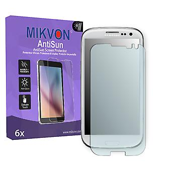 Samsung Galaxy S3 Neo Screen Protector - Mikvon AntiSun (Retail Package with accessories) (intentionally smaller than the display due to its curved surface)