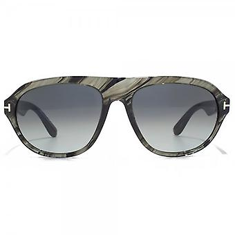 Tom Ford Ivan Sunglasses In Grey Marble