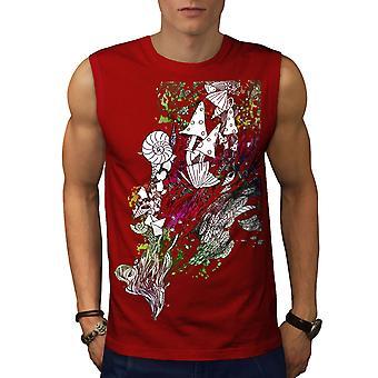 Fantasy Cool drog Rasta män RedSleeveless T-shirt | Wellcoda