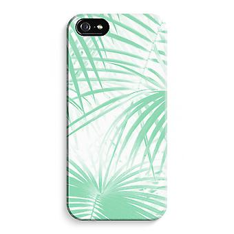 iPhone 5C Full Print Case (Glossy) - Palm leaves