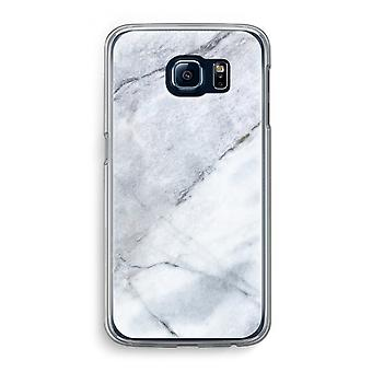 Samsung Galaxy S6 Transparent Case (Soft) - Marble white