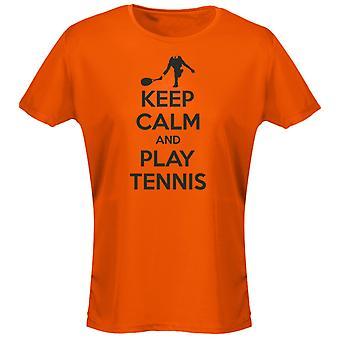 Keep Calm And Play Tennis Womens T-Shirt 8 Colours by swagwear