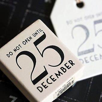 Øst for Indien ikke åbne indtil 25 December gummistempel - jul håndværk / DIY gave Tags