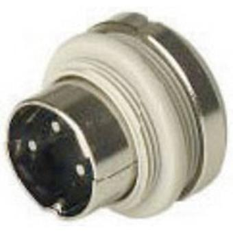 DIN connector Plug, vertical mount Number of pins: 3 Grey Hirschmann MASEI 3100 1 pc(s)