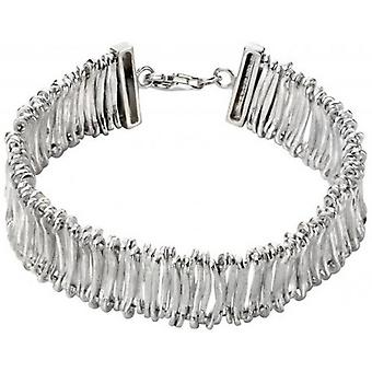 Beginnings Articulated Textured Bracelet - Silver