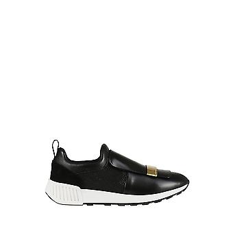 Sergio Rossi women's A80840MFN2951000 black leather slip on sneakers