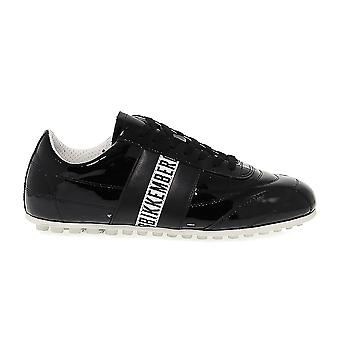 Bikkembergs women's BKE107823W Black patent leather of sneakers