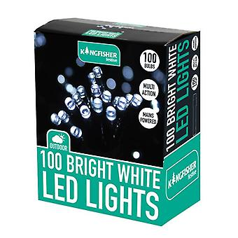Kingfisher 100 LED Bright White Xmas Christmas Lights
