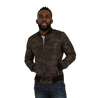 Mens Camo Bomber Jacket Lightweight