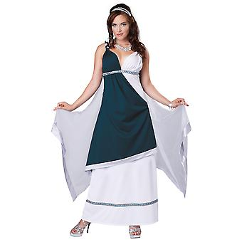 Roman Beauty Goddess Greek Blue Toga Ancient Party Dress Up Womens Costume