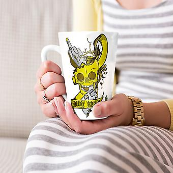 Bullet Proof Head Skull NEW White Tea Coffee Ceramic Latte Mug 17 oz | Wellcoda