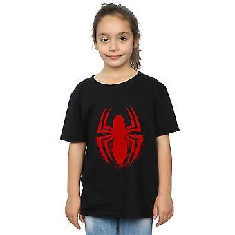 Marvel Mädchen Spiderman Logo Emblem T-Shirt