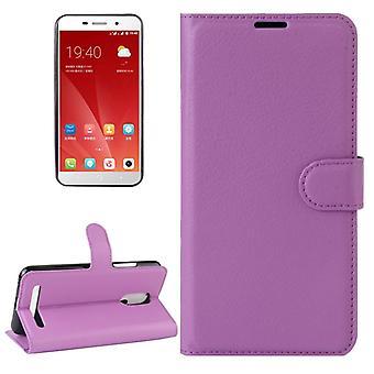 Tasche Wallet Premium Lila für ZTE Blade A602 Schutz Hülle Case Cover Etui Neu