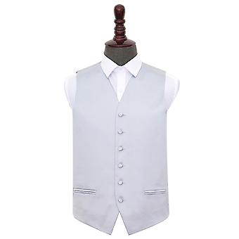 Silver Plain Satin Wedding Waistcoat