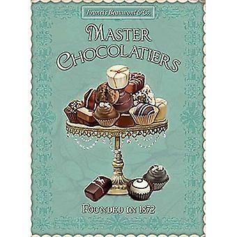 Master Chocolatiers klein metaal ondertekenen 200 X 150 Mm