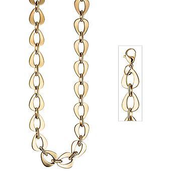 Kjede kjede rustfritt stål gull farge belagt 46 cm kjede