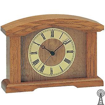 Desk shelf watch clock radio clock radio oak solid mineral glass