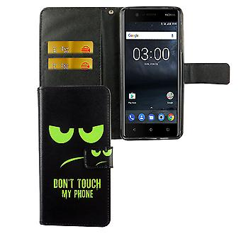 Cell phone cover case for mobile Nokia 3.1 2018 dont touch my phone Green