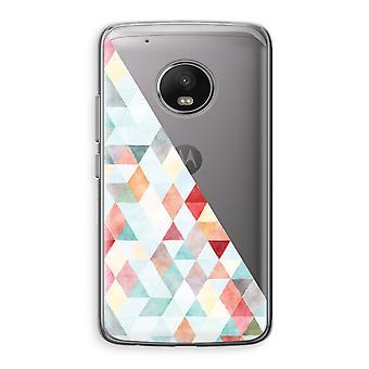 Motorola Moto G5 Transparent Case (Soft) - Coloured triangles pastel