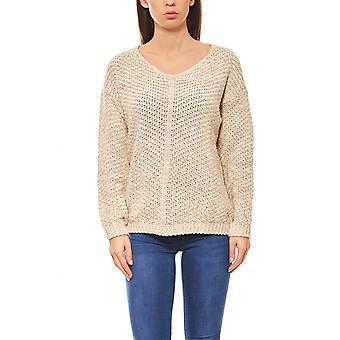 B.C.. best connections of cuddly ladies V-neck sweater beige
