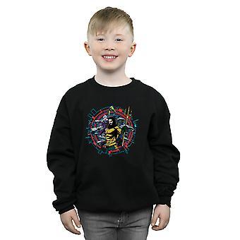 DC Comics Boys Aquaman Circular Crest Sweatshirt