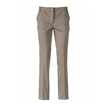 PATRIZIA DINI tight cigarette pants with crease short size large size Brown